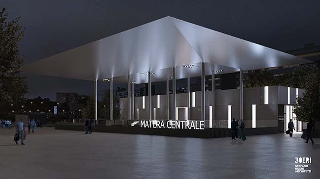 Matera Central Fal Station by Stefano Boeri Architetti