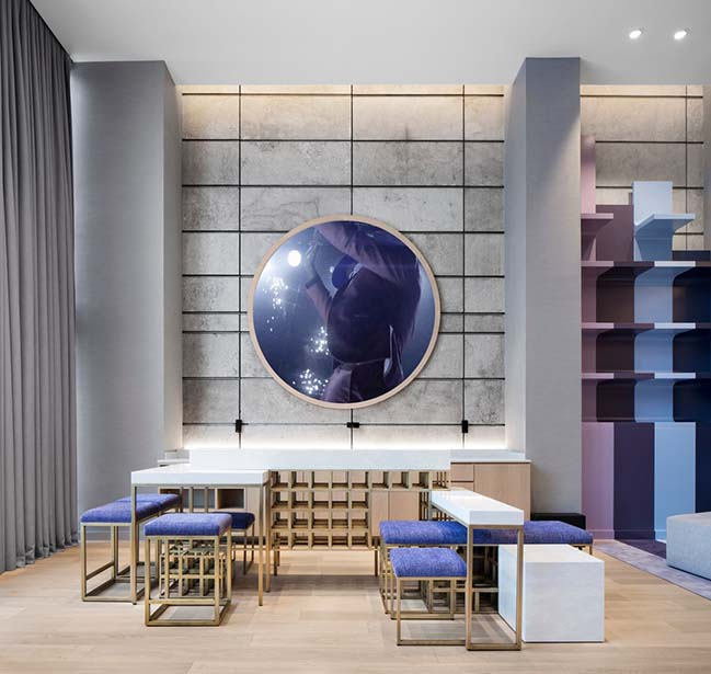 Sid Lee Architecture completed the Extreme WOW Suites at the Hotel W Montreal