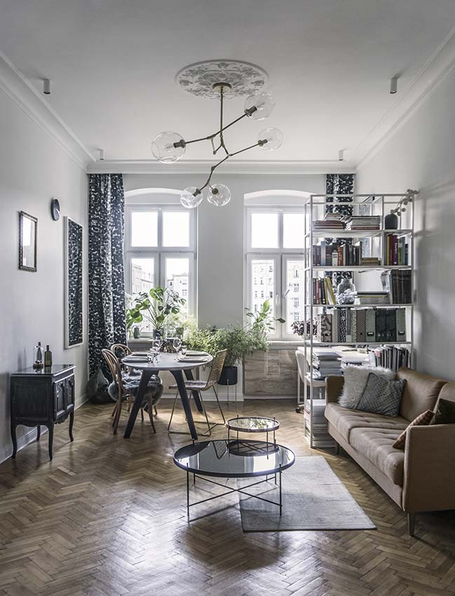 Refurbishment of apartment in Wroclaw by Kohlrabi Architektura