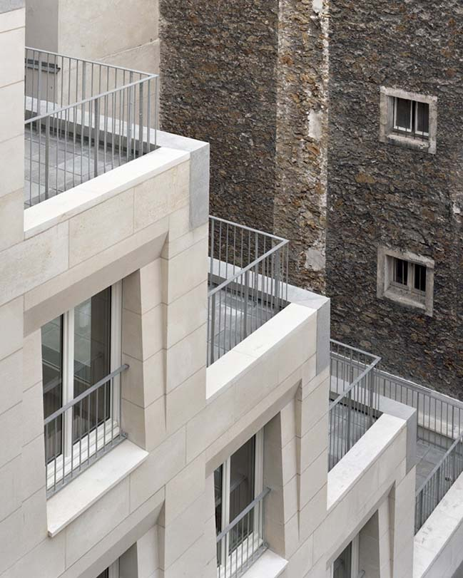 Social Housing Units in Massive Stone by Barrault Pressacco