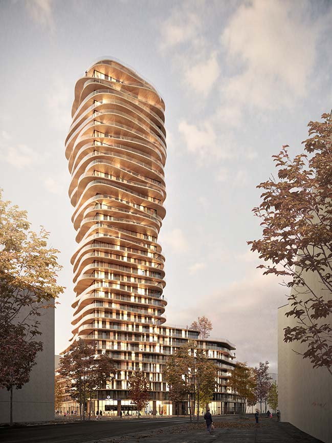 Belatchew Arkitekter designs the Disscus Tower in Stockholm