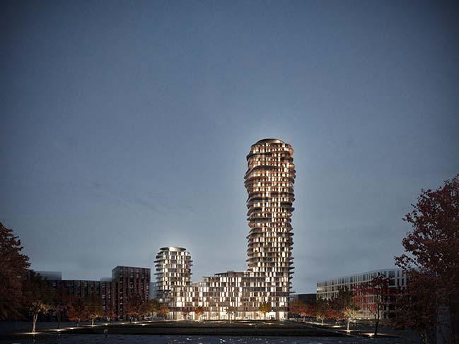 Belatchew Arkitekter在斯德哥尔摩设计Disscus塔
