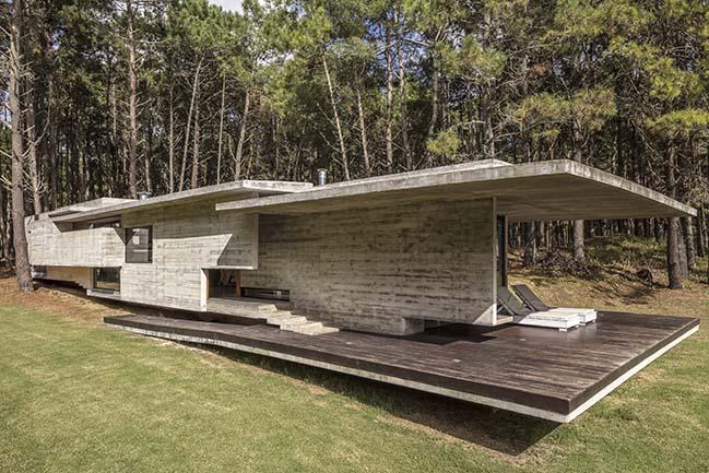 Forest House in Costa Esmeralda by Besonias Almeida arquitectos