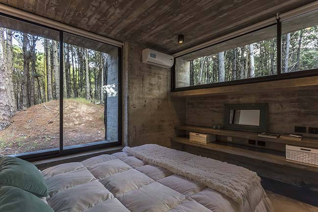 Forest House in Costa Esmeralda by Besonias Almeida arquitectos