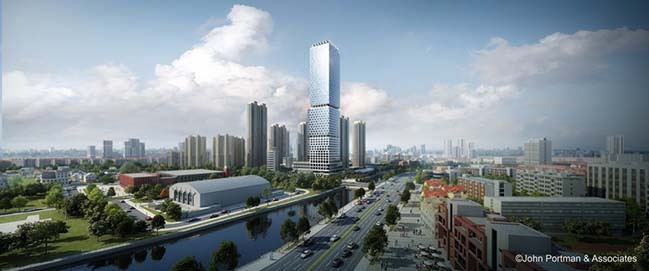John Portman & Associates unveils Design for Super Tall Tower in Wuxi