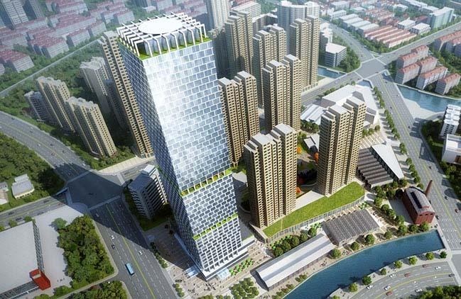 John Portman & Associates unveils Design for Super Tall Tower in Wuxi