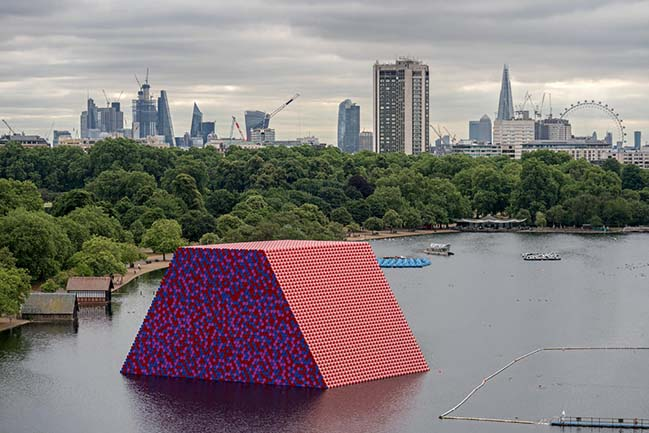 The London Mastaba by Christo and Jeanne-Claude
