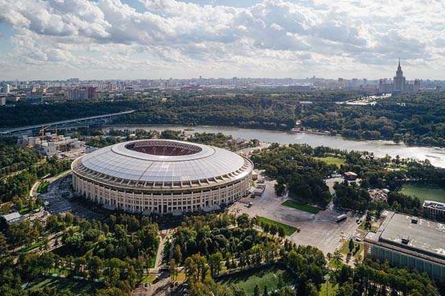 Luzhniki Stadium refurbishment by SPEECH architectural office