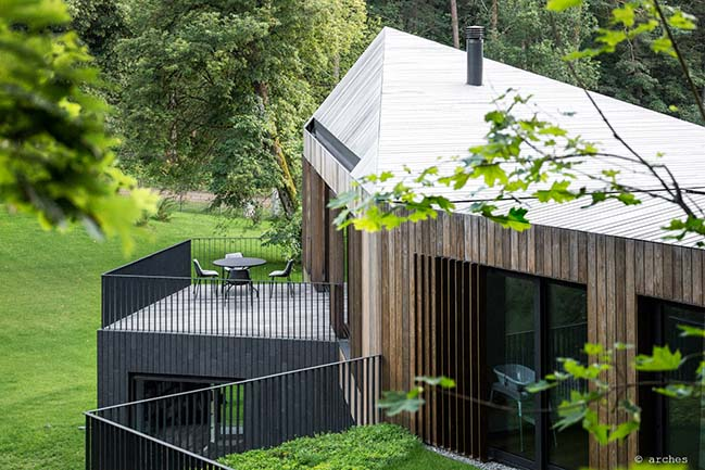 Valley villa in Vilnius by Arches
