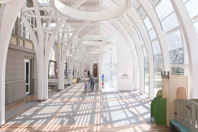 Margine unveils a pavilion for the Meyer Pediatric Hospital Foundation in Florence