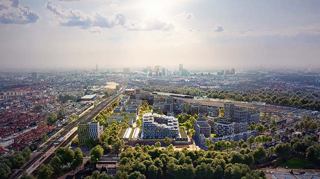 Cartesiusdriehoek Blue District in Utrecht by Mecanoo
