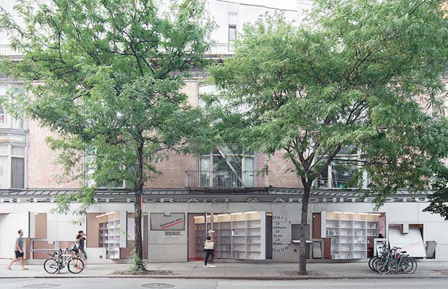 Storefront Library in New York by Abruzzo Bodziak Architects