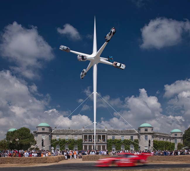 Gerry Judad creates Porsche sculpture for Goodwood Festival of Speed 2018