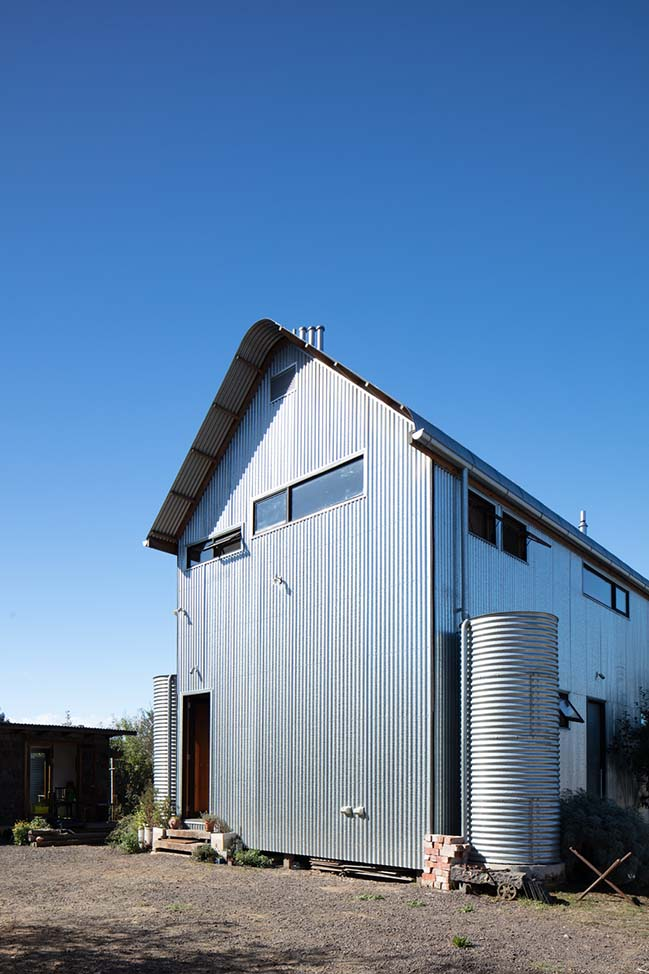 The Recyclable House in Beaufort Victoria by Inquire Invent Pty Ltd