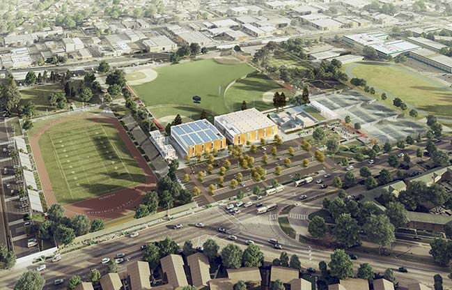 SPF:architects's Rancho Cienega Sports Complex begins construction in September