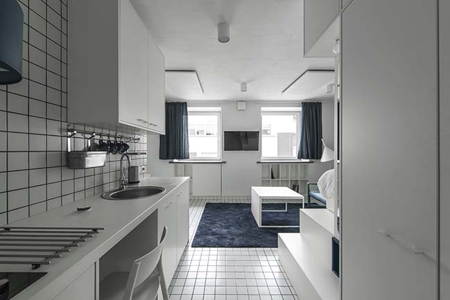 Micro Apartments in Vilnius by HEIMA Architects