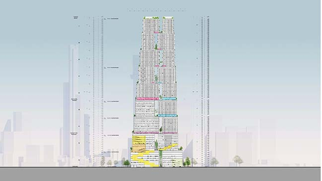 The Lanescraper by Bjarke Ingels Group