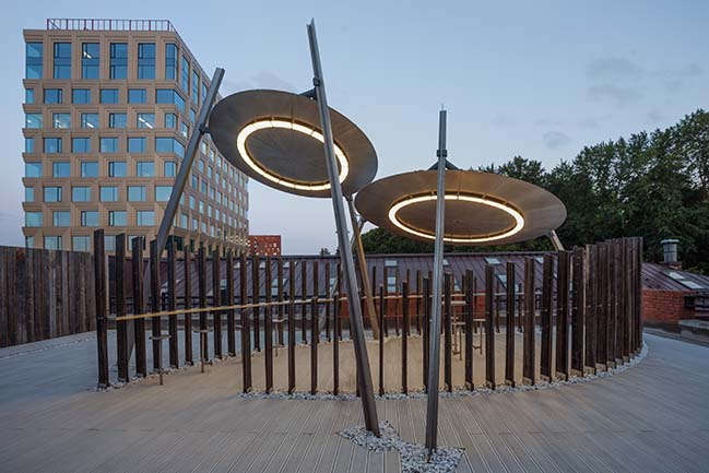 UFO - Sunshade on the roof by Nefa Architects