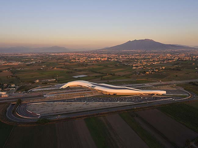 Napoli Afragola high-speed railway station photographed by Hufton+Crow