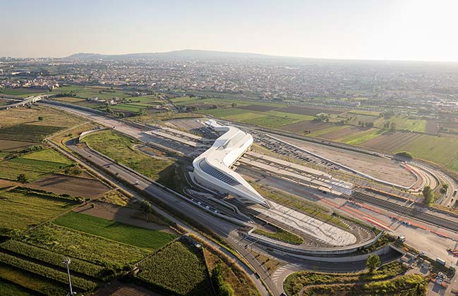 ZHA's Napoli Afragola high-speed railway station new images by Hufton+Crow