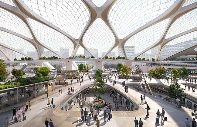 Station of the Future in the Netherlands by UNStudio
