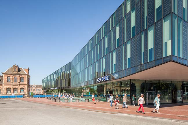 New Delft City Hall and Train Station by Mecanoo