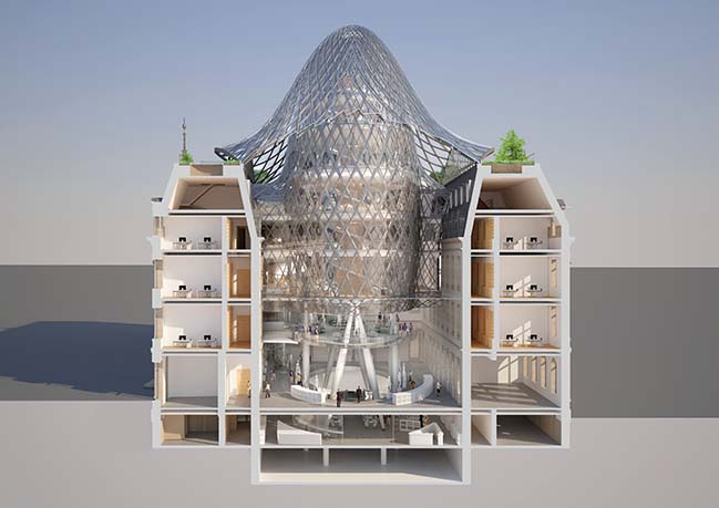 Metamorphosis of The Hotel Des Postes by Vincent Callebaut Architectures