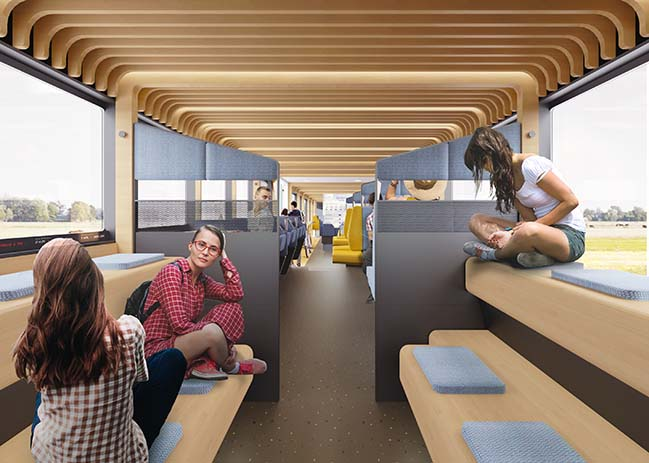NS Vision Interior Train of the Future by Mecanoo and Gispen