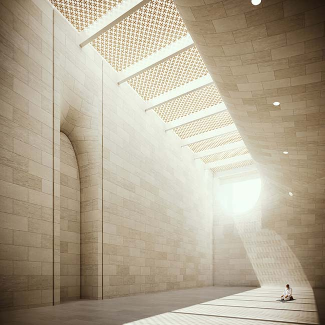 Iconic Mosque at Dubai Creek Harbor by Luca Poian Forms