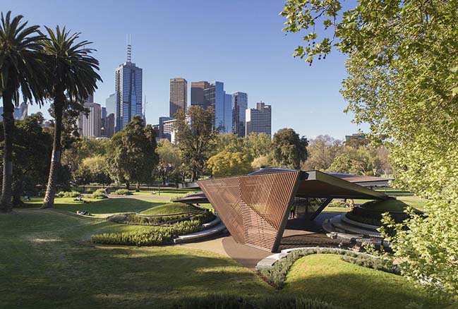 M Pavilion 2018 in Melbourne by Estudio Carme Pinós
