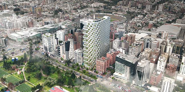 IQON - The tallest building in Quito by Bjarke Ingels Group