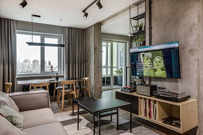 Modern apartment for a Cinema Fan by BohoStudio