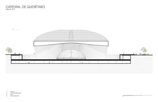 Queretaro Cathedral by Sordo Madaleno Arquitectos