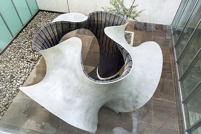 KnitCandela: a flexibly formed, thin concrete shell by Zaha Hadid Architects