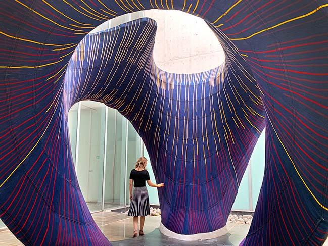 KnitCandela: a flexibly formed, thin concrete shell by Zaha Hadid Architects