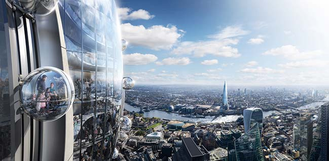 The Tulip - New public cultural attraction in London by Foster + Partners