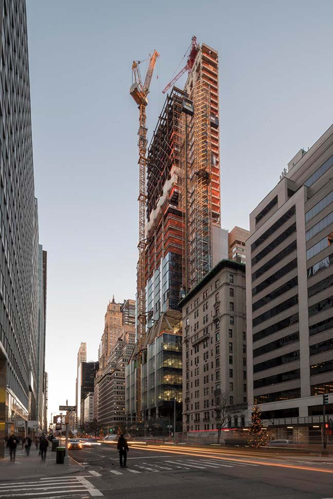 Foster + Partners' 425 Park Avenue tops out
