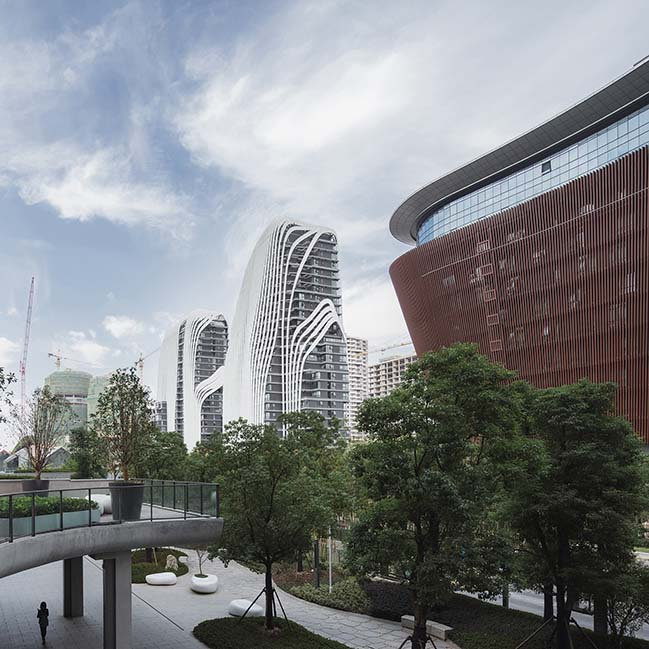Nanjing Zendai Himalayas Center by MAD Architects nears completion