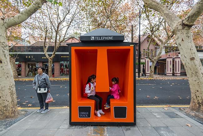 The Orange Booths in Shanghai by 100architects