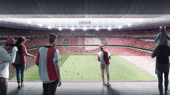 Feyenoord City in Rotterdam by OMA