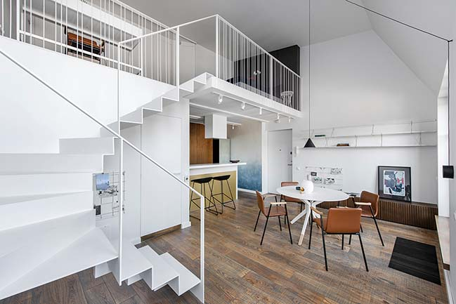 Apartment in white in Vilnius by Prusta