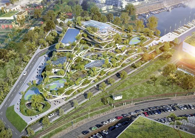 Soprema HQ - Eco-futuristic building by Vincent Callebaut Architectures