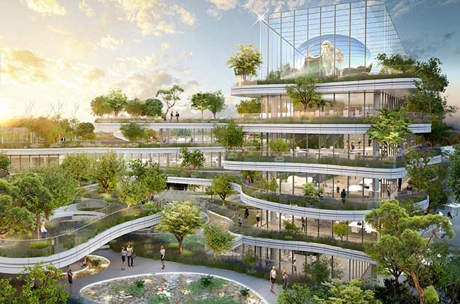 Soprema HQ - Eco-futuristic building by Vincent Callebaut Architectures