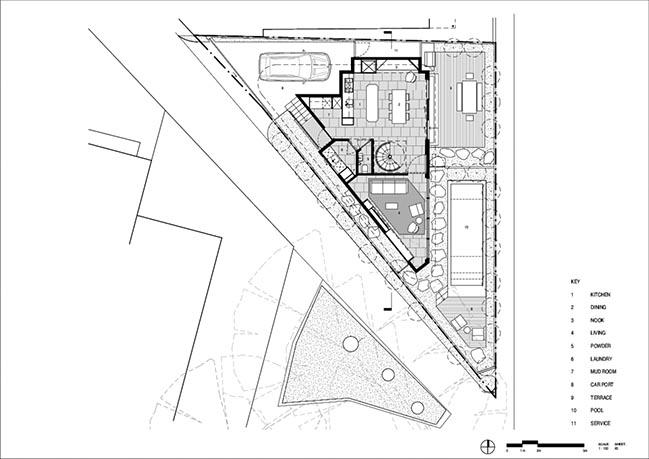 Triangle House in Toorak by Molecule Studio