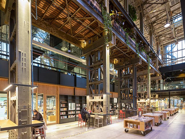 Mecanoo completed interior design for the LocHal Library
