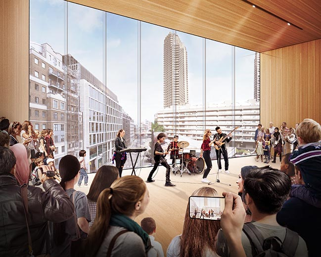 Diller Scofidio + Renfro为伦敦音乐中心设计的第一个概念