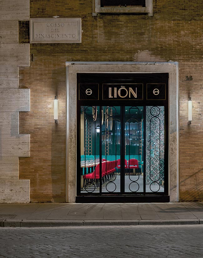 LIÒN - Sophisticated restaurant and cocktail bar in Rome by COLLIDANIELARCHITETTO