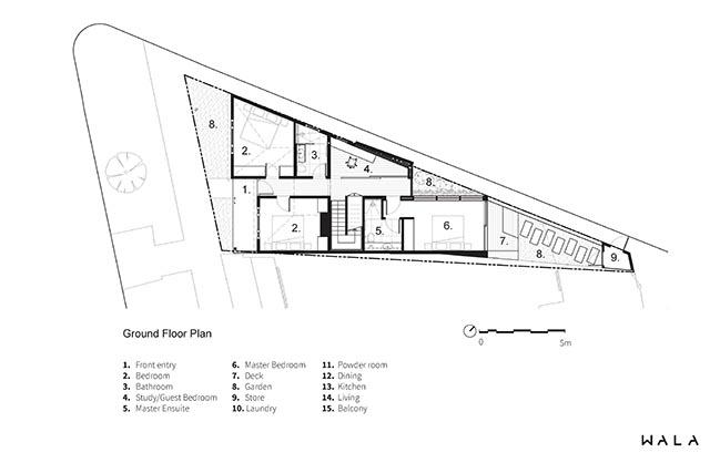 Downside Up House by WALA
