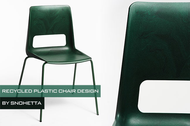 Snøhetta presents S-1500: A chair made from recycled plastic