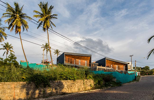 Sunset Houses in Tibau do Sul by Vilela Florez